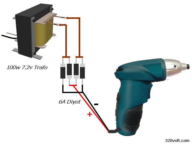 Cordless screwdriver to run with Transformer sarjli tornavida sema