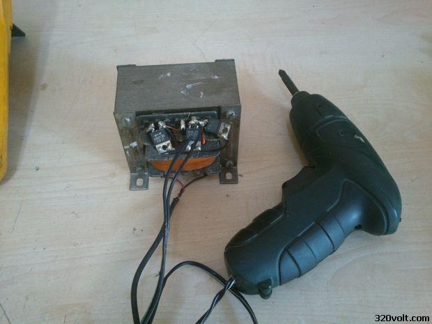 Cordless screwdriver to run with Transformer sarjli tornavida trafo 11