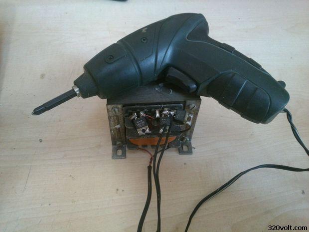 Cordless screwdriver to run with Transformer sarjli tornavida trafo 22