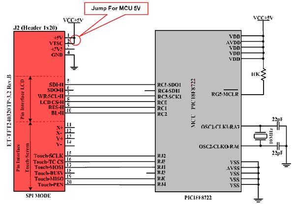 tft-lcd-interfacing-board-et-tft240320tp-mcu-pic18f8722-5v