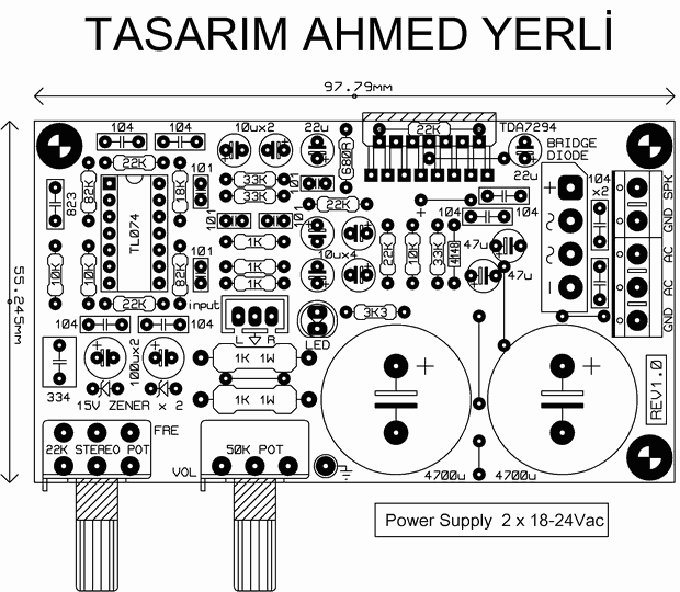 TDA7294 Subwoofer Amplifier Circuit tda7294 pcb
