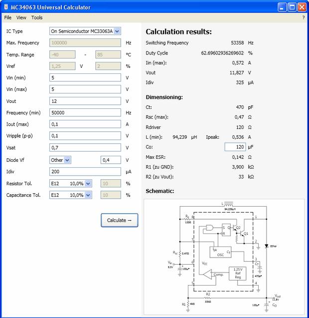 MC33063A-Switching-Controller-MC33063A-Universal-Calculator
