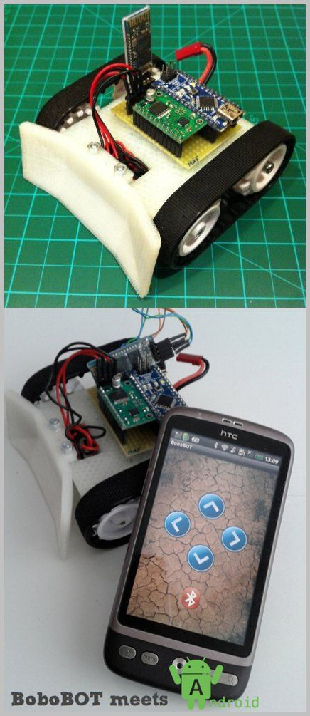 Arduino Nano Android Robot Project Qik2s9v1 Xbee Bluetooth