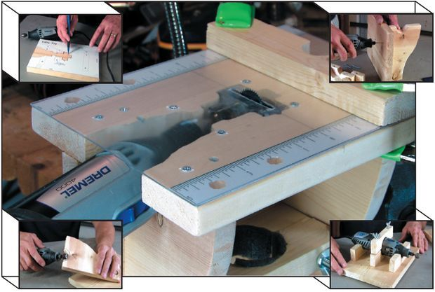 Dremel 4000 With Hand Made Table Saw Electronics