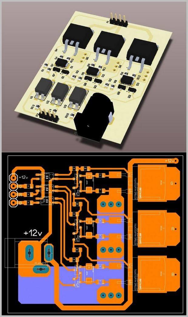 irfz48-pc817-rgb-led-driver-modul-pcb-rgb-led-driver-circuit