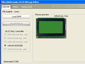 MikroC GLCD Bitmap Editör Kullanımı Grafik LCD'ye Resim Ekleme