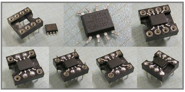 SMD 8 Pin SOIC Adapter (DIP Socket) soic adaptor soic adapter smd adaptor smd adapter 8 pin adapter