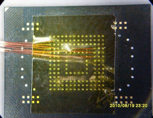 32 GB EMMC Memory Micro SD card Connection 32gb emmc mikroskop altinda tel lehimleyerek iletim hatlarini