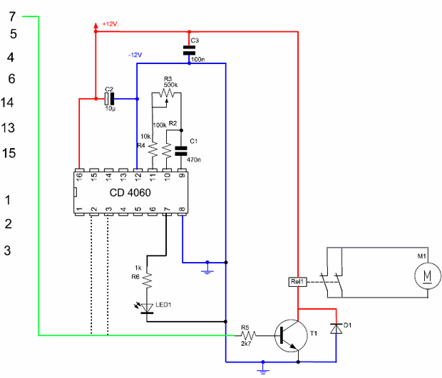 cd4060 timer with a simple timing circuit cd4060