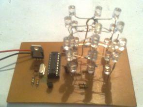 PIC16F628 Mikrodenetleyici İle 3X3X3 Led Küp Devresi