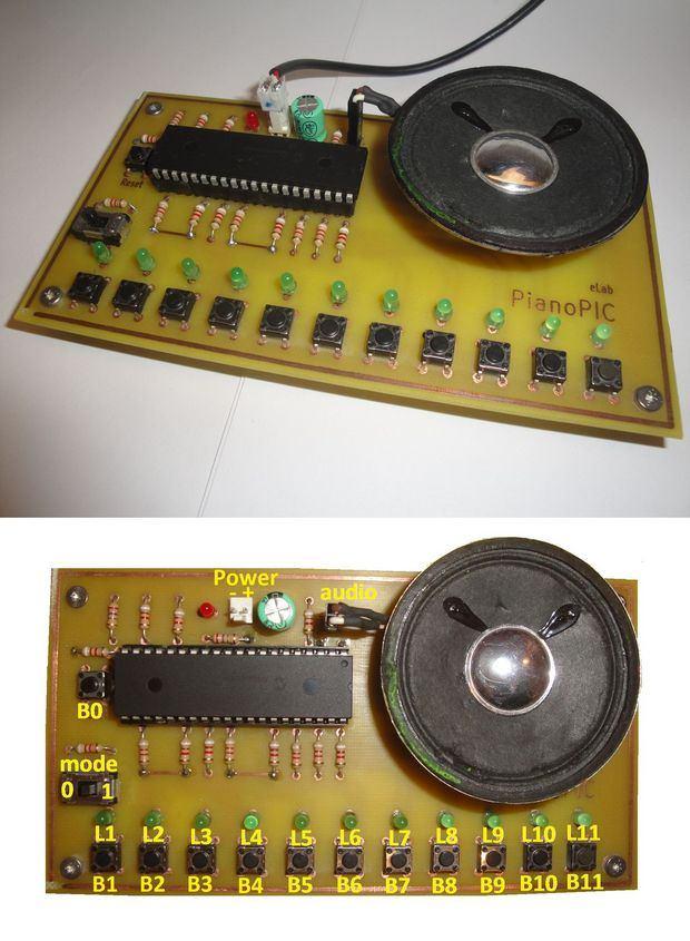 Electronic Piano Using PIC microcontroller (PIC18F4550) pic18f4550 elektronik piyano piyano devresi