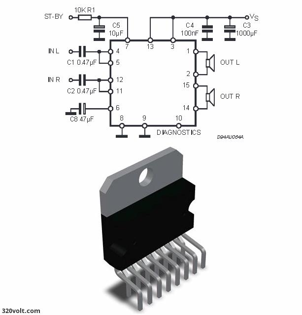 TDA7375-amp