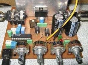 TDA7375 İle LM1036N Ton Kontrollü Amfi Devresi