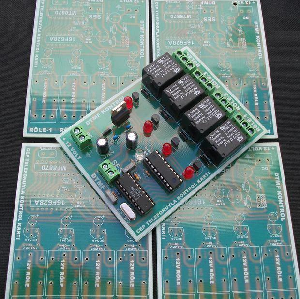 CM8870 Remote device control via telephone DTMF pic16f628 cm8870 dtmf pic16f628 dtmf role telefon role