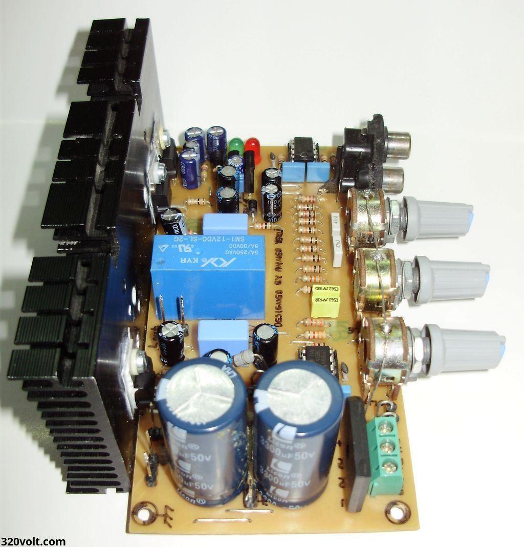 Compact Stereo Amplifier Project Electronics Projects Circuits Tda2030 Hi Fi Audio Circuit Electronic Lm1875 Tda2040 Tda2050 Kompakt Pcb 3 120x120