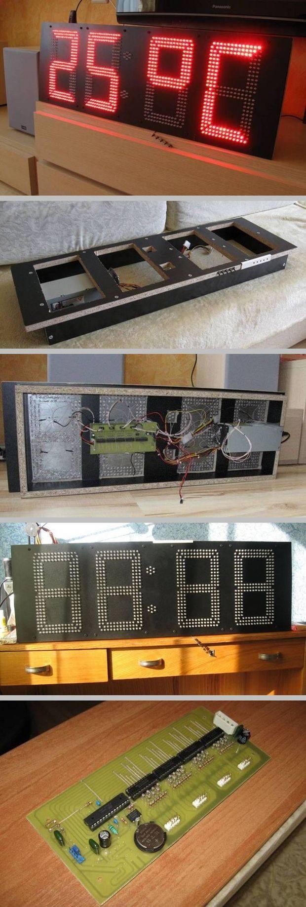 atmega8-ds1307-ds18b20-led-saat-termometre-devresi-saat-devresi