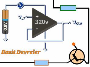 555 Timer entegreli düşük güçlü DC-AC konvertör devresi