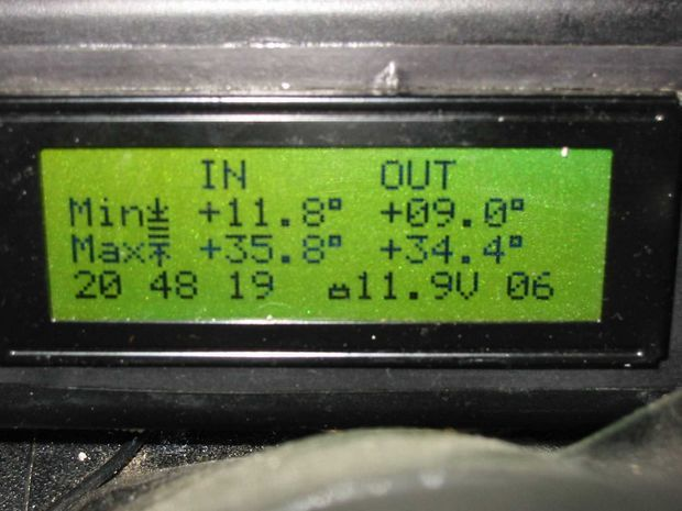 Car Info Panel with PIC16F873 car bord computer pic 16f873 microcontroller