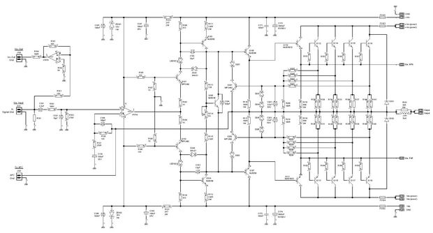 300W RMS High performance Power Amplifier schematic delta pa 34a ii power amplifier