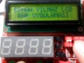 MSP430G2553 Karakter LCD Bar Gösterim Uygulaması