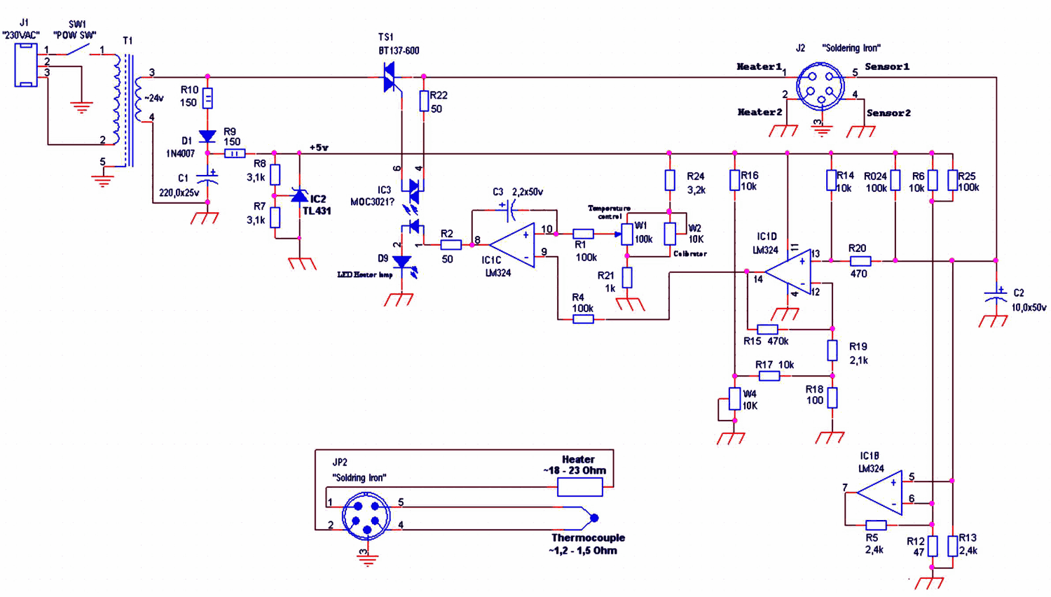 Excellent 24V Soldering Iron Control Circuit Heat Control To 450 Degrees Wiring Cloud Geisbieswglorg