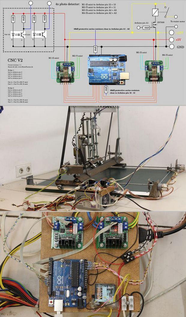 USB CNC Project Arduino Uno cnc usb arduino uno l298 cnc