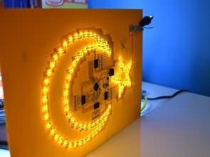 PIC16F877 LED Ay Yıldız Devresi (SMD Tasarım)