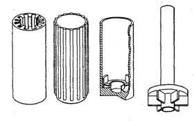 ekstrüzyonla üretilmiş parçalar
