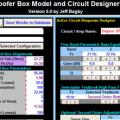 Woofer Kabin Crossover Tasarım Programları (Excel)