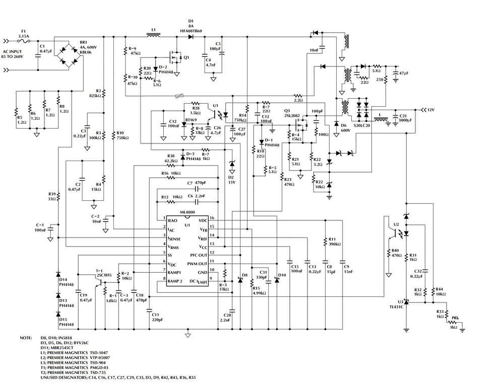 Meanwell SP-320-15 Schematic - Electronics Projects Circuits