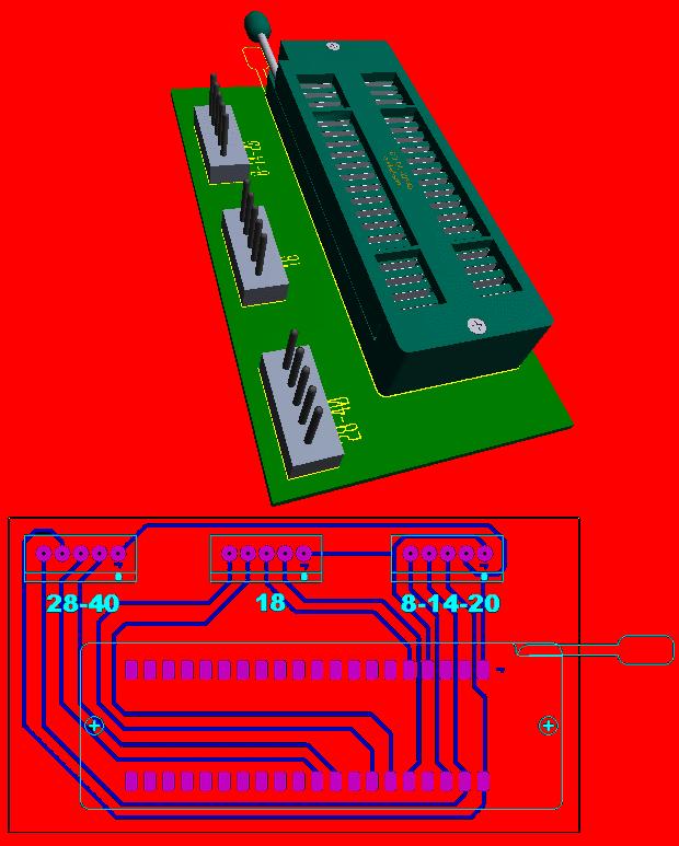 PICKIT3 ICSP Adapter PCB pickit 3 zif icsp adapter pickit3 pic programlama