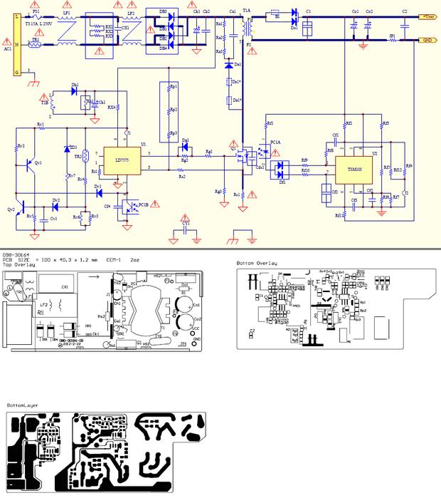 SMPS Adapter NB NB 65b19 90B19 Schematics schematic nb 65b19 caa nb 65b19 cay input90 265v4763hz output19v3 42a ld7575 ld8103 smps