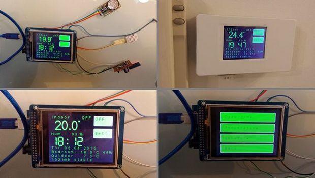 Arduino mega esp termostat dht bmp ds