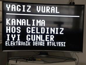 Arduino ile TV'de Yazı Yazma