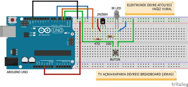 Arduino ile tv açma kapama devresi tvbgone elektronik