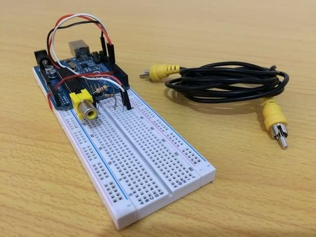 Arduino ile tv de yazı yazma elektronik devreler projeler