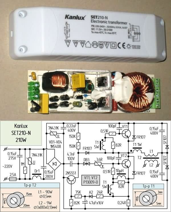 Electronic Transformers Circuit Schematics 12V Halogen Lamp ... on