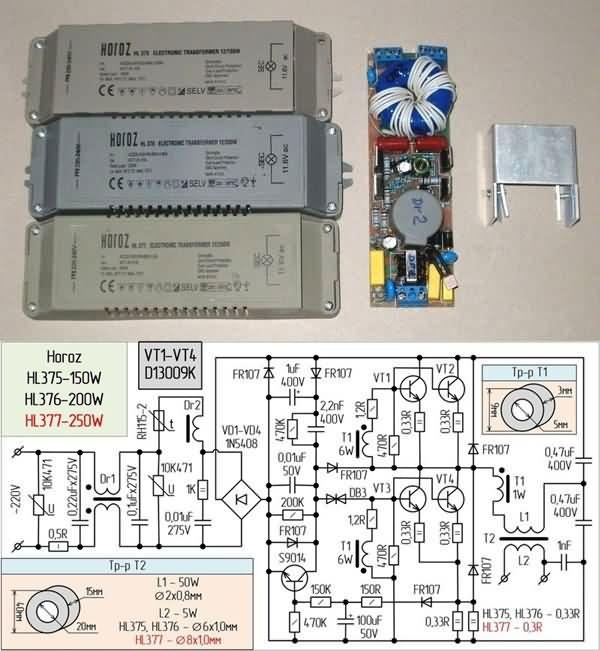 Electronic Transformers Circuit Schematics 12v Halogen