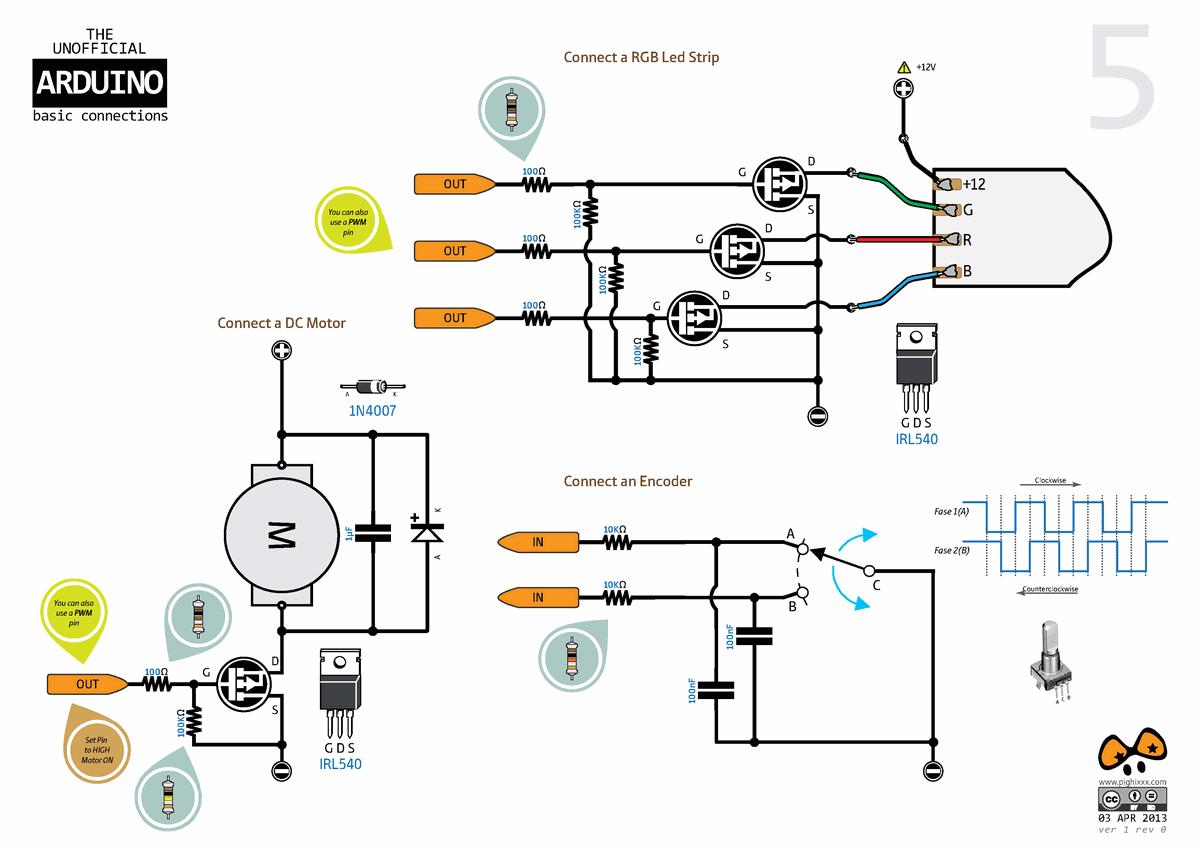 Arduino External Circuit Connection Charts Electronics Projects Led Optocoupler 7 Segment Ortak Anot Coklama Array Max7221 120x120