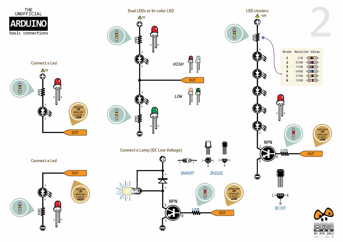 Arduino External Circuit Connection Charts Electronics Projects Audio Spectrum Analyzer Led 03 120x120 Dc Motor Rgb Serit Enkoder Baglantilari