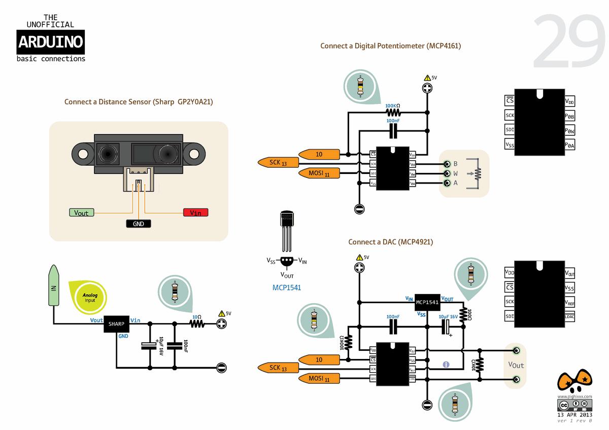 Arduino External Circuit Connection Charts Electronics Projects Audio Spectrum Analyzer Led 03 120x120 Sicaklik Sensoru Lm35 Rtc Ds1307 Video Vga