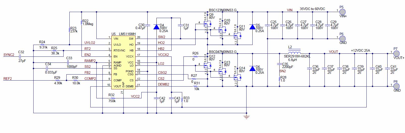 600w Dc Dc Buck Converter Circuit 60v Input To 12v 50a