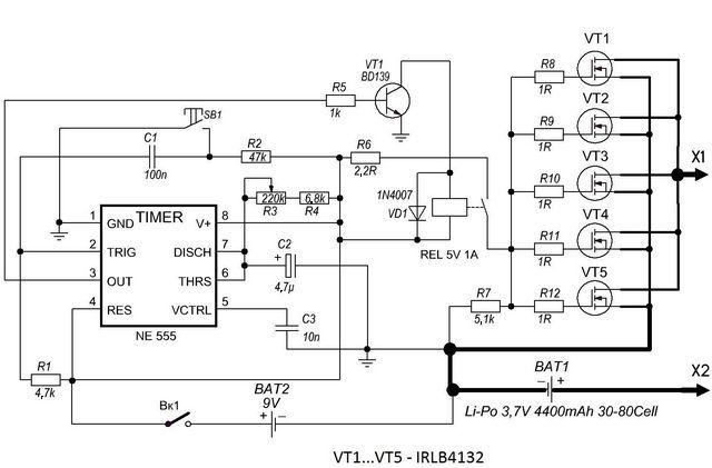 portable battery welding circuit  transformerless
