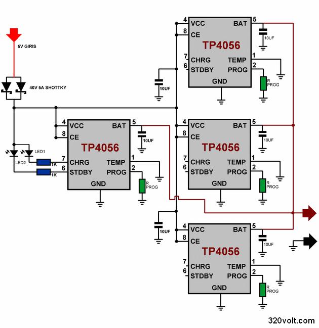 Li Po Li Ion Battery Charge Mcp73831 Tp4056 Circuits