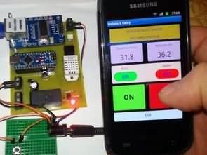 Arduino Nano İnternet Röle Kontrolü (ısı, nem ölçümü android)