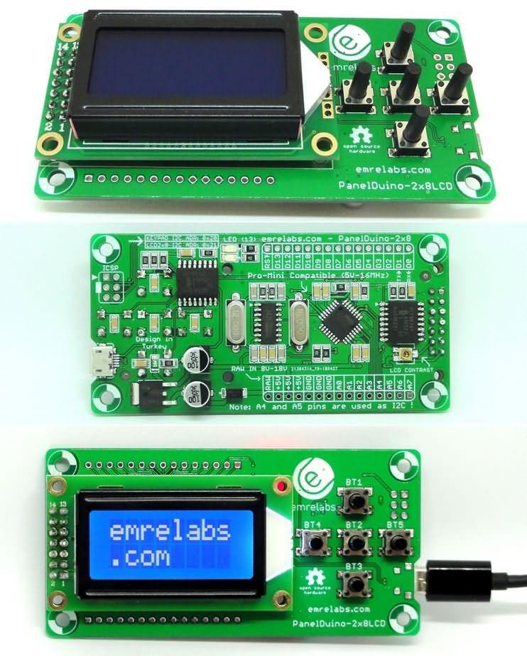Arduino pro mini panelduino elektronik devreler projeler
