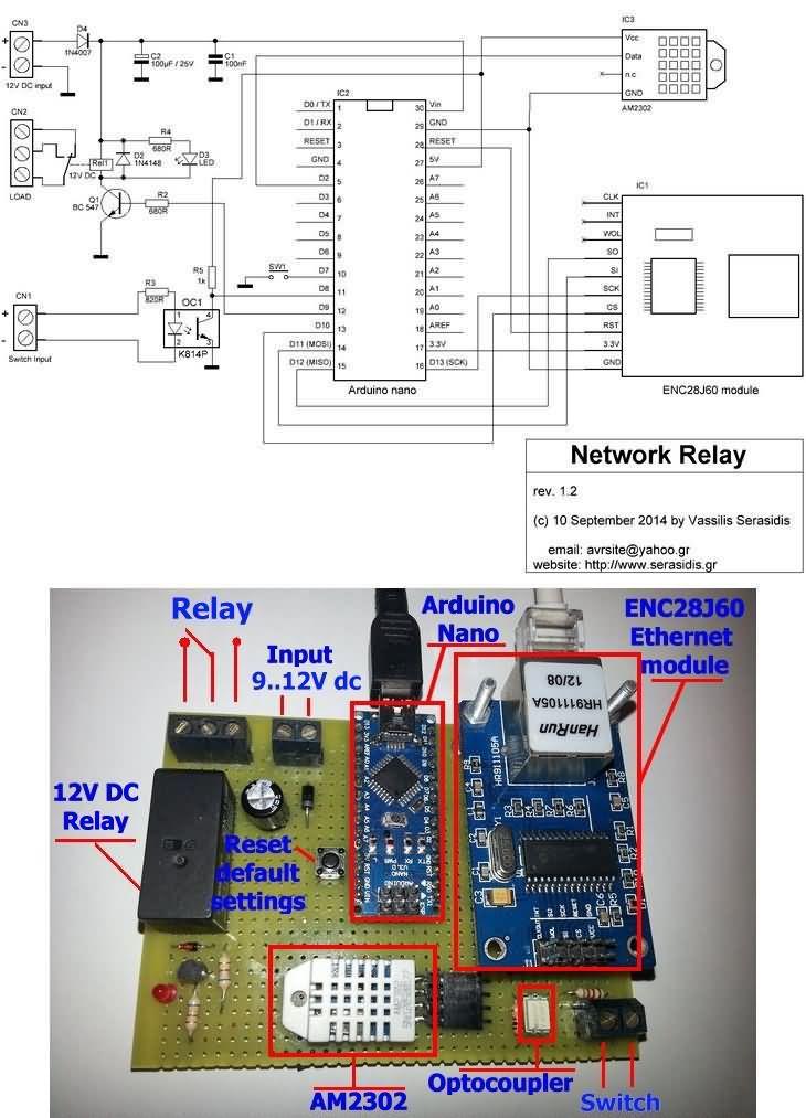 Arduino nano İnternet röle kontrolü ısı nem ölçümü