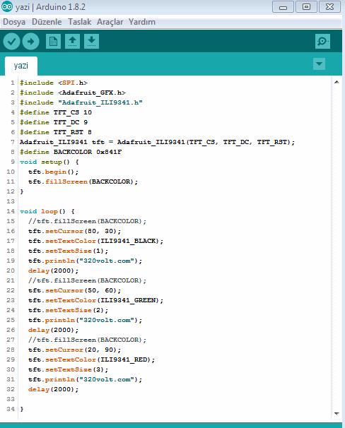 arduino-adafruit-gfx-library-lcd-yazi-text