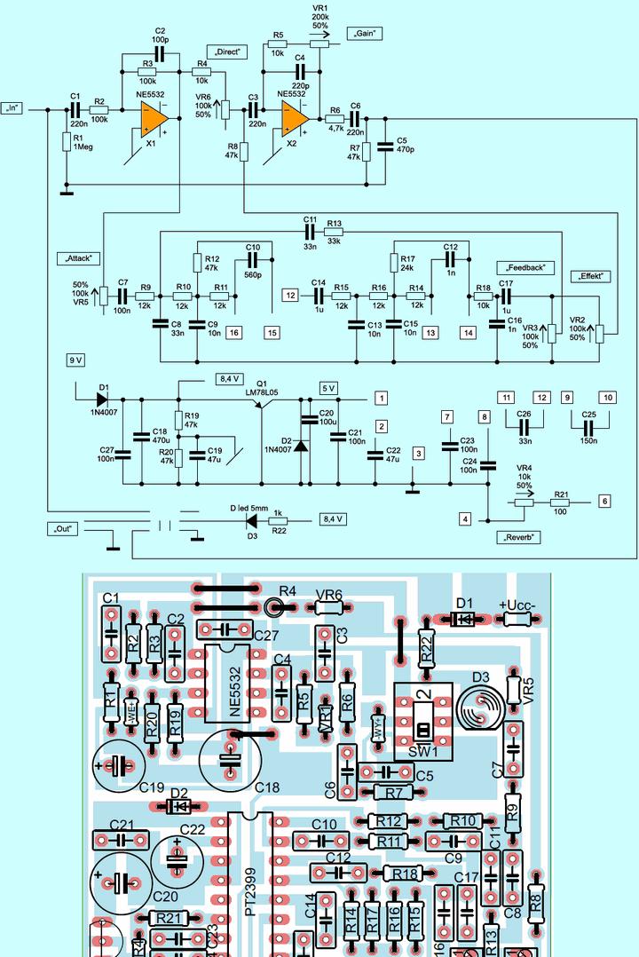 pt2399-reverb-efekt-modulu-devre-semasi