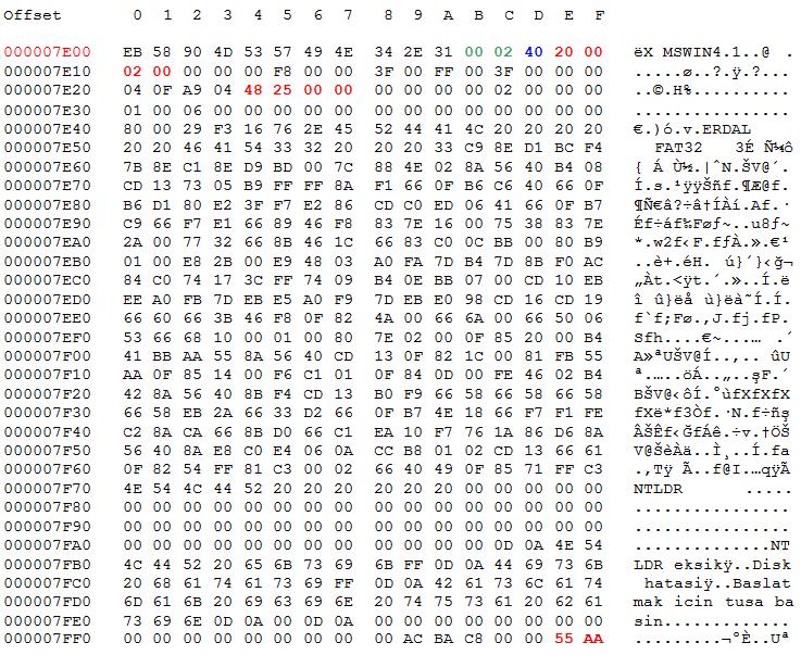 ilk-partition-baslangici-boot-sektor